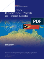 Timor Leste Political Parties and Groupings 2nd Edition Bahasa