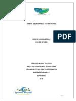 DISEÑO  DE LA EMPRESA SYSTEM WORDL (Reparado)