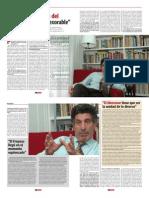 Chacho Alvarez, Revista Debate.