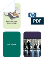 HP Business Inkjet 2600dn User Manual