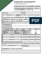 Formato de Inscripcin Cupos 2010, Prematricula Reserva y Traslado