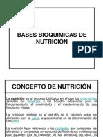 BASES BIOQUIMICAS DE NUTRICIÓN