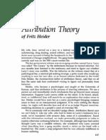 Attribution Theory 1