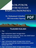 Pokok-pokok Materi Kuliah Bahasa Indonesia