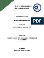 Clasificacion Del Drenaje y Estabilidad de Taludes