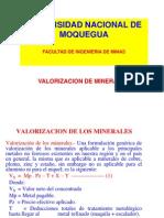 Valorizacion de Minerales