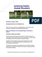 Maintaining Healthy Volleybal Shoulders