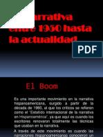 La Narrativa Entre 1950 Hasta La Actualidad