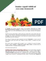 Carenza Di Vitamine- Segnali Visibili Sul Nostro Corpo, Ecco Come Riconoscerli