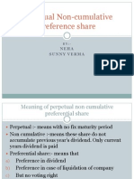 Perpetual Non Cumulative Preference Share