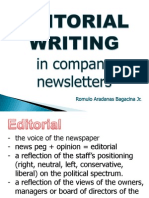 Editorial Writing in Company Newletters