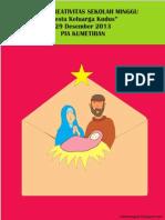 Bahan Kreativitas Sekolah Minggu 29 Desember 2013 PIA Kumetiran