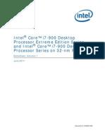 Core i7 900 Ee and Desktop Processor Series 32nm Datasheet Vol 1