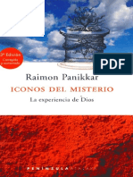 Iconos Del Misterio La Experiencia de Dios Raimon Panikkar