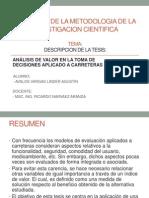 Trabajo 12.10.2013 ( Descripcion de Tesis)