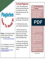 Plagiarism Pamphlet