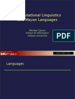 Computational Linguistics in Mayan Languages