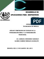 Análisis comparativo de ventajas de la P.M y la P.T