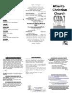 November 10, 2013 Trifold Bulletin