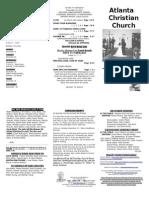 November 24, 2013 Trifold Bulletin