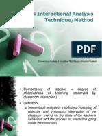 Flanders Interaction Analysis Technique