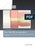 Parting Off Operation and Corner Treatment