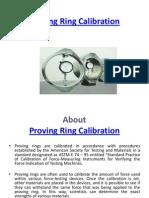 Proving Ring Calibration
