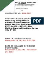 13LB 0117 Matina Bangkal Section
