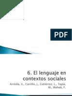 Lenguaje en Contextos Sociales