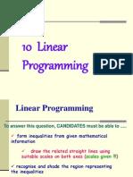 3 10 Linear Programming