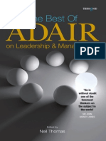 the Best of Adair on Leadership and Management