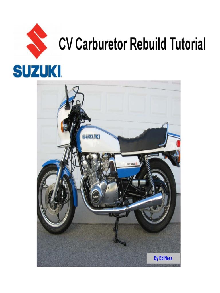 Mikuni BS CV Carburetor Rebuild Tutorial Carburetor