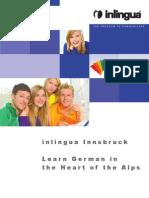 Inlingua Innsbruck Folder German Courses