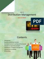 Unit 11 Distribution Management