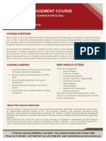 Syllabus Mercury Management Course