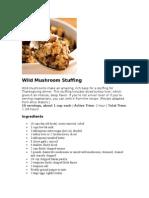 Wild Mushroom Stuffing