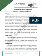 Dual-Microcontroller Based GPRS Data Transmission Control System Design