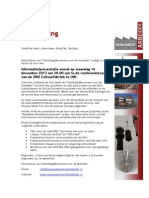 Uitnodiging bijeenkomst Monument voor de arbeider 16 december 2013 DRU Industriepark Ulft
