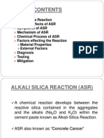 Alkali-silicate reaction in cement