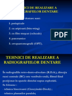 Tehnici de Realizare Radiografii Dentare I
