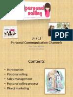 Unit 13 Personal Communication Channels