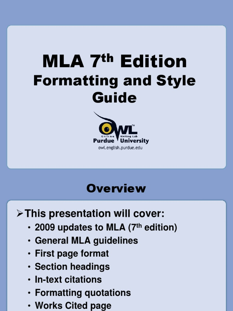 mla guidelines citation writing
