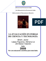 La Evaluacion en Ferias de Ciencia y Tecnologia (1)