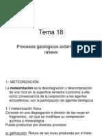 18 Procesos Geologicos Externos y Su Relieve