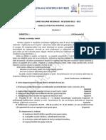 Bucuresti Limba Romana Subiecte Simulare Evaluare Nationala Aprilie 2013 (1)