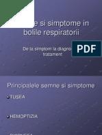 Semne Si Simptome in Bolile Respiratorii