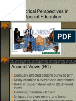 Historical Perspectives in - disability
