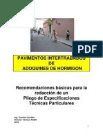 Pliego de Especificaciones Para Pavimentos de Hormigon
