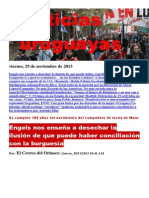 Noticias Uruguayas Viernes 29 de Noviembre Del 2013