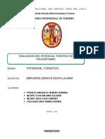 Evaluacion Del Potencial Turistico de La Provincia de Paucartambo